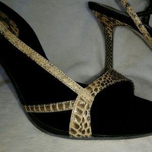 Nine West strappy snake sandal heels. Size 7.5